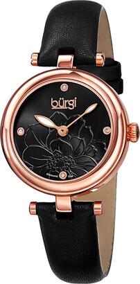 Burgi Women's Diamond Dial Watch