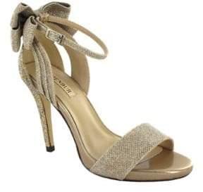 Menbur Celosia Ankle Strap Glitter Sandals $117 thestylecure.com