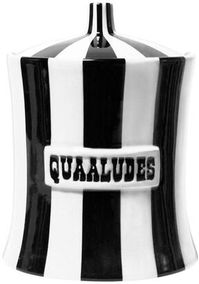 Jonathan Adler Vice Canister - Quaaludes - Black/White