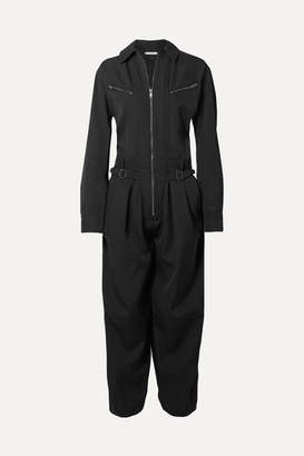 Givenchy Grain De Poudre Wool Jumpsuit - Black