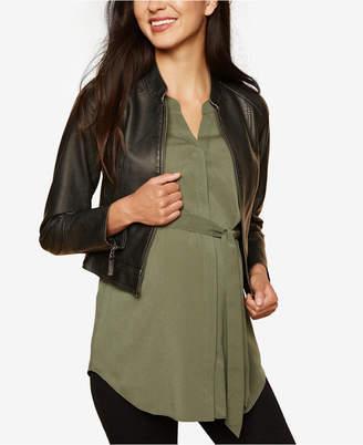 Motherhood Maternity Faux Leather Jacket