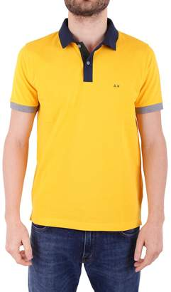 Sun 68 Blend Pique Cotton Polo Shirt