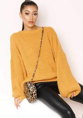 720705659 Missy Empire Missyempire Heather Mustard Knit Jumper