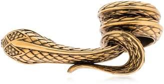 Roberto Cavalli Snake Double Finger Ring