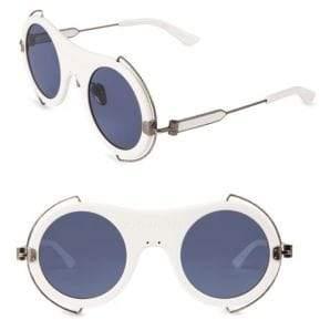 Calvin Klein Round Metal Trim Sunglasses/49MM