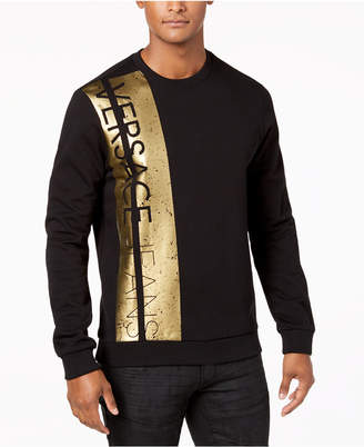 Versace Men's Metallic Logo-Print Sweatshirt