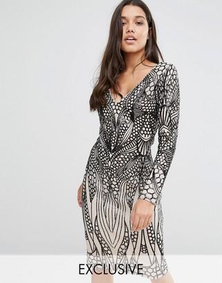 Club L Placement Sequin Midi Dress $91 thestylecure.com