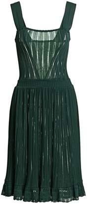 Alaia Falbalas Pleated A-Line Dress