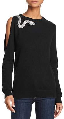 Aqua Snake Cutout Cashmere Sweater - 100% Exclusive