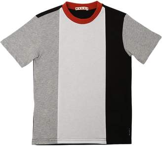 Marni Junior Striped Cotton Jersey T-Shirt