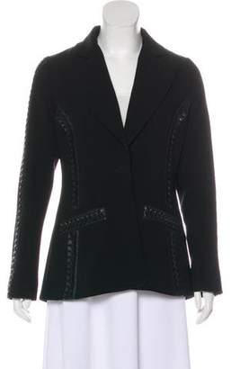 Altuzarra Faux Leather-Trimmed Notch-Lapel Blazer