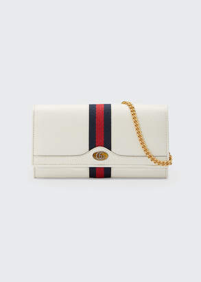 Gucci Ophidia Leather Continental Wallet on Chain