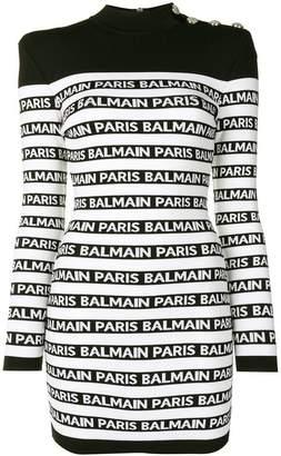 Balmain logo knit dress