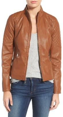 Women's Guess Faux Leather Jacket $150 thestylecure.com