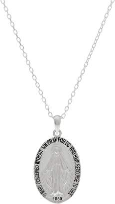 Jmh Jewellery JMH Jewellery Sterling Silver Miraculous Medal Necklace