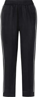 ASCENO - Washed-silk Pajama Pants - Black