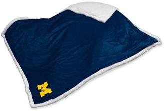 NCAA Logo Chair Michigan Sherpa Blanket