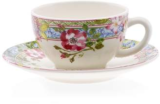 Gien Millefleurs Cup and Saucer