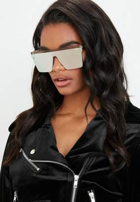 Missguided Quay Australia Hindsight Gold Sunglasses