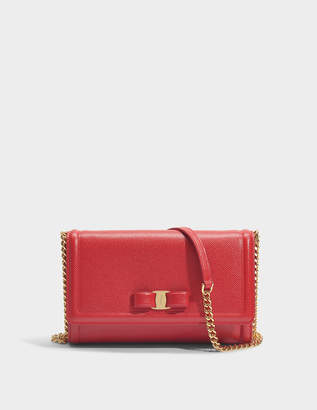 Salvatore Ferragamo Ginny Mini Bag in Red Score Leather