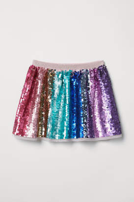 H&M Sequined Skirt - Pink