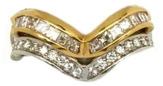 St. John Alfieri & 18k Gold Diamond Wave Rings