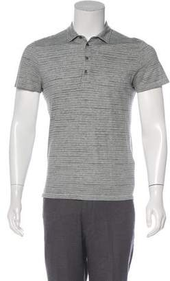 John Varvatos Striped Polo Shirt