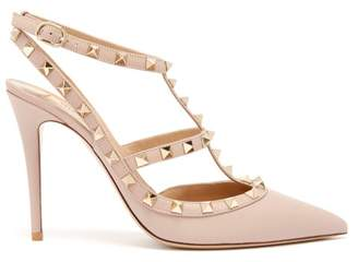 376f8ea075e6 Valentino Rockstud Leather Pumps - Womens - Nude