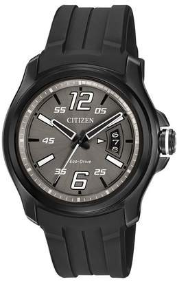 Citizen Men's Eco-Drive Black Rubber Strap Watch, 43mm