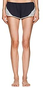 Skin Women's Genevieve Lace-Trimmed Organic Cotton Shorts-Mid-midnight