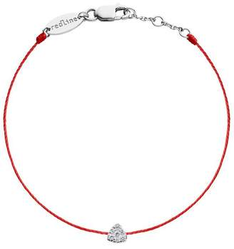 Redline Diamond Triangle Red Bracelet - White Gold