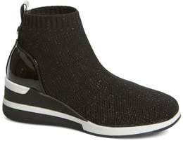 Steve Madden Dusky Metallic High Top Wedge Sock Sneaker