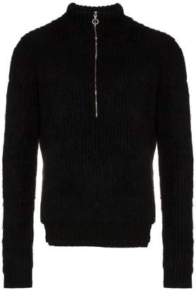 Helen Lawrence half zip merino wool jumper