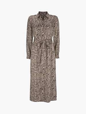 Mint Velvet Leopard Print Phillipa Utility Dress, Neutral/Multi