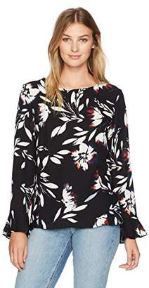 Chaus Women's Long Sleeve Floral Vision Blouse