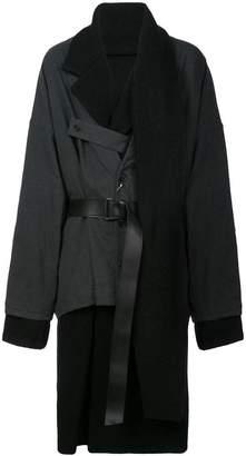 Yohji Yamamoto belted layered coat