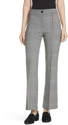 Theory Cardinal Windowpane Plaid Trousers