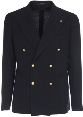 Tagliatore Double-breasted Blue Wool Jacket