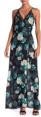 Adelyn Rae Jasmine Floral Print Wrap Maxi Dress