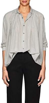 Pas De Calais Women's Striped Cotton-Silk Voile Blouse