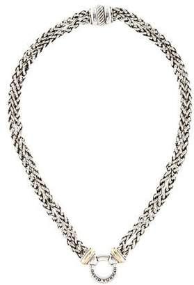 David Yurman Two-Tone Double Wheat Chain Necklace