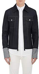 Helmut Lang RE-EDITION Men's Denim Zip-Front Shirt Jacket-Dk. Blue