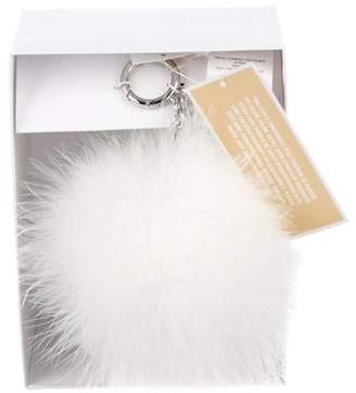 Michael Kors Feather Pom-Pom Bag Charm w/ Tags