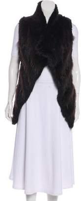 Barneys New York Barney's New York Fur Mock Neck Vest w/ Tags