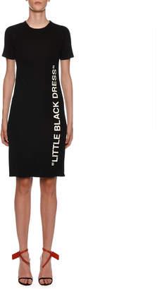 Off-White Off White Short-Sleeve Little Black Dress