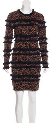 Veronica Beard Wool-Blend Knit Dress