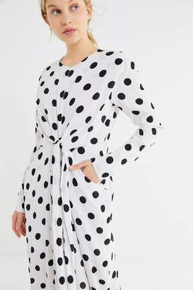 Style Mafia Polka Dot Twist-Front Dress