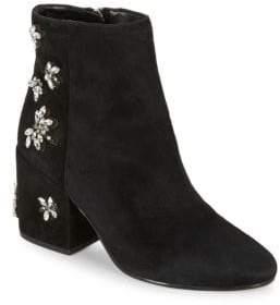 Sam Edelman Taye Suede Embellished Ankle Boots