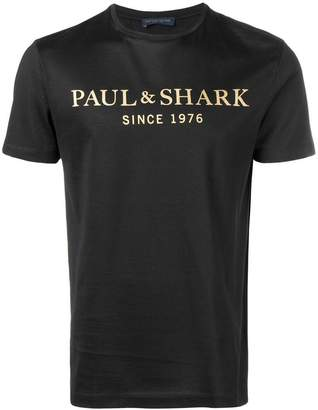Paul & Shark logo print T-shirt