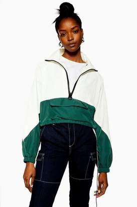 Topshop Womens Petite Cropped Windbreaker Jacket